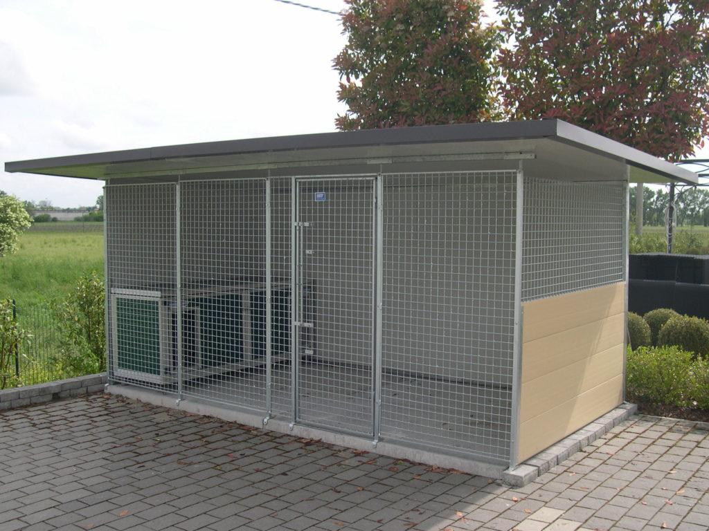 Box per cani da esterno coibentati in rete retex for Cancelletto per cani da esterno