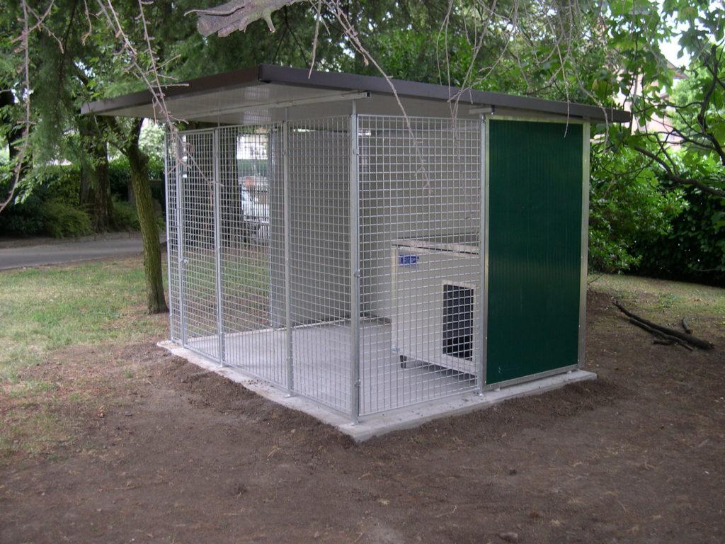 box per cani da esterno coibentati in rete retex