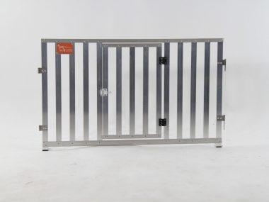 pannelli in stecche d'alluminio con porta