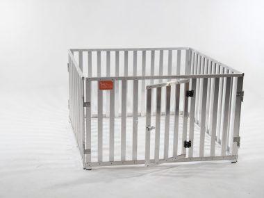 recinto modulabile in stecche d'alluminio