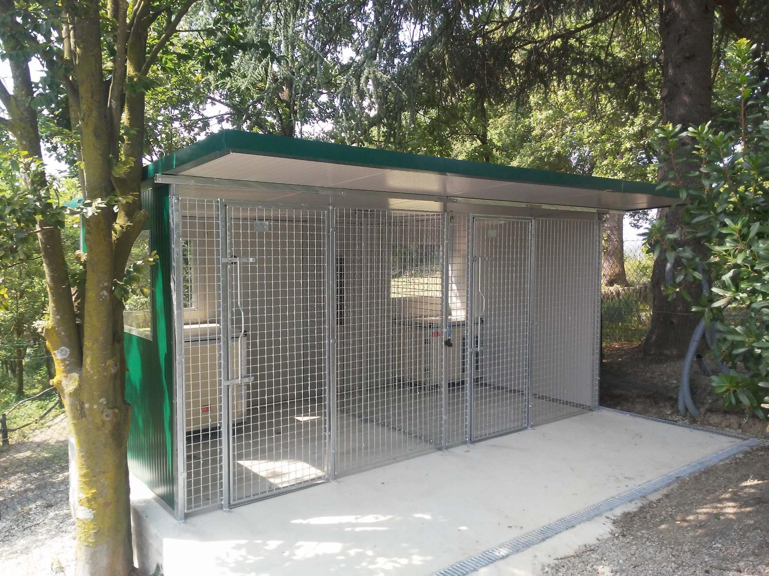 box cane modulare verde in rete
