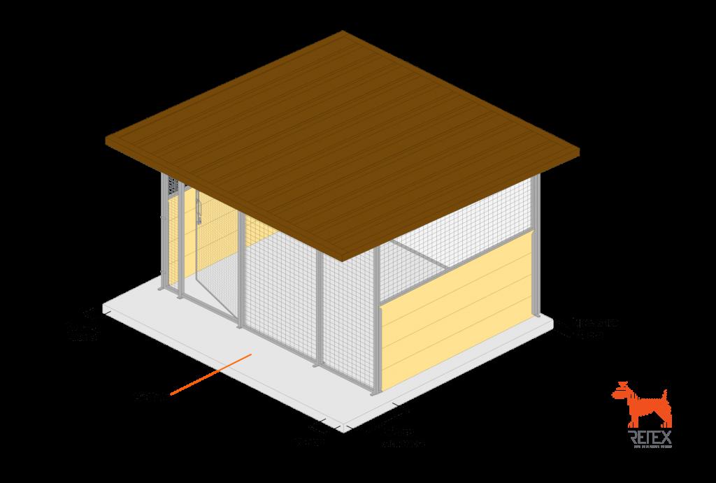 misure gettata box da esterno per cani